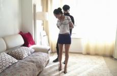 Szexi Kínai Lány Elrabolva/Megkötözve