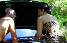 Léna Kis Cicis Cigány Lány Lerobban Autójával