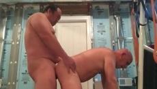 Grasso asiatico papà sesso con un ragazzo